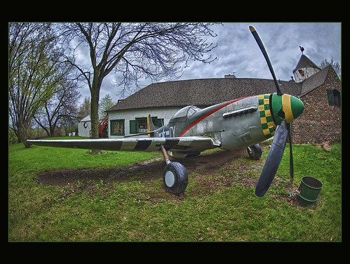 world old columbus ohio color vintage airplane nikon war aircraft aviation wwi wwii fisheye nik nikkor hdr aero relic p51mustang 94th 16mmf28 efex d700 squardon
