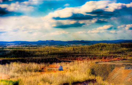minnesota clouds landscape golden spring mine ussteel far hdr birdseye minntac