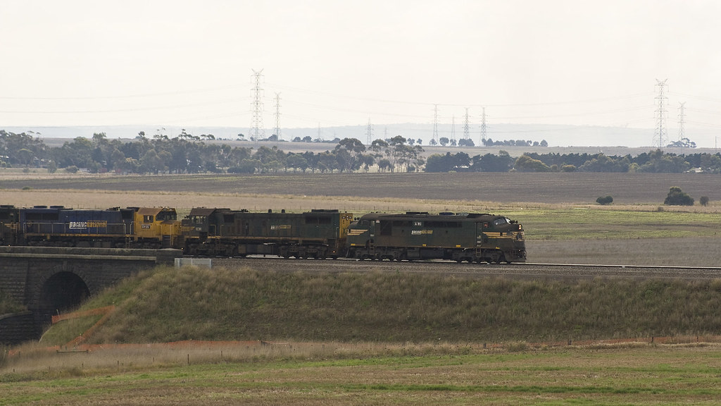 Grain train at Cowies Creek by michaelgreenhill
