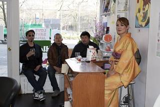 PESU, Yaz Yigashiya, Akimasa Koketsu (of Old-Soulz Ent. Inc) and Mariko Osanai, creators of Love Save Japan | by hadas.goshen
