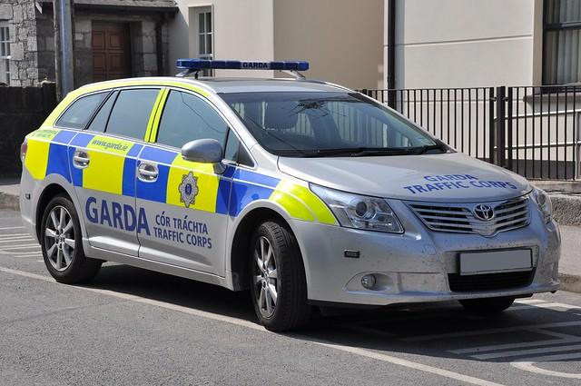 An Garda Siochana Irish Police Force Toyota Avenis Estate Traffic Corps East Cork