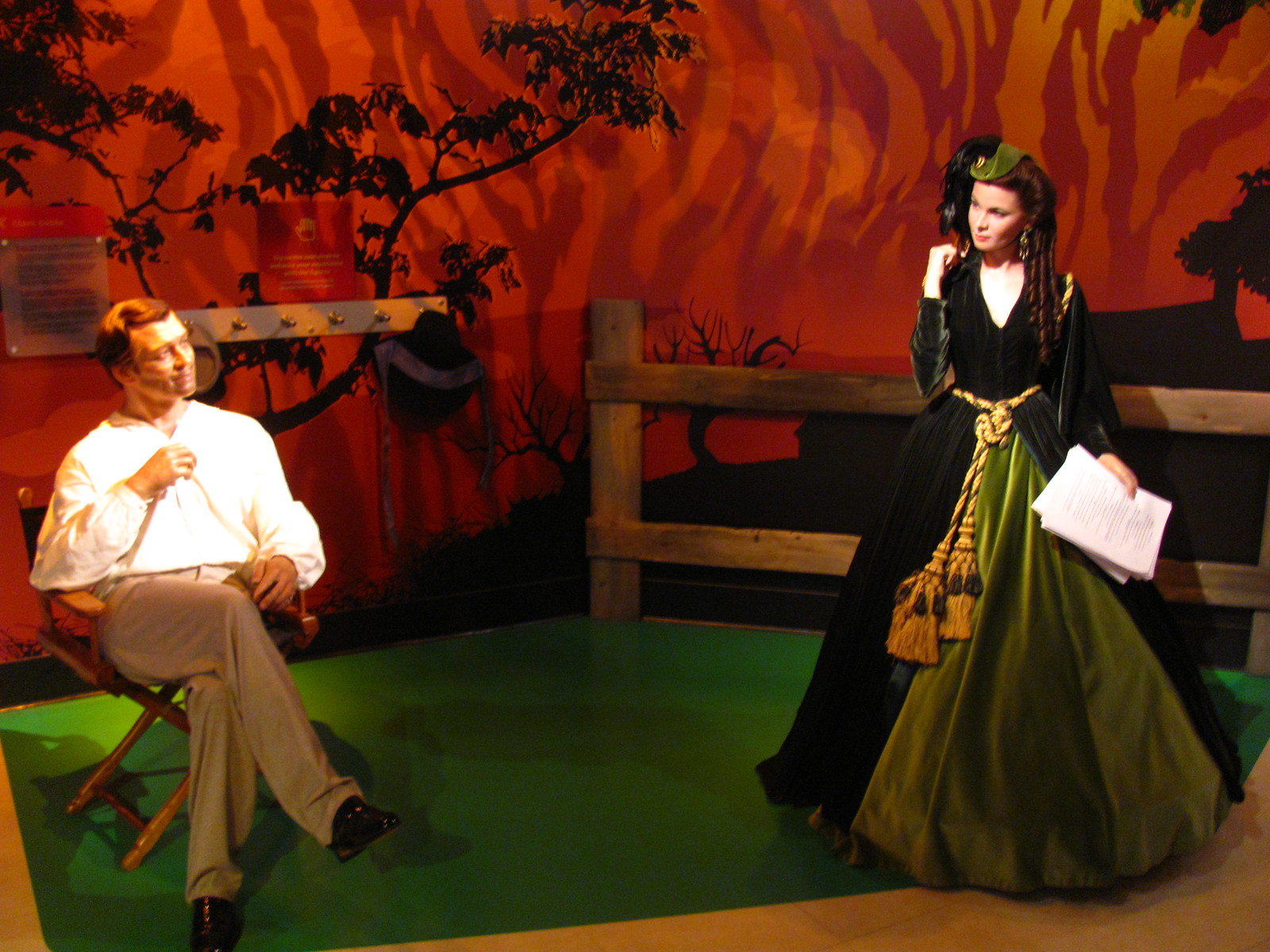 Gone with the Wind scene at Madame Tussauds Hollywood