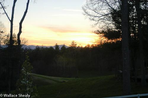 sunset usa mountain geotagged unitedstates northcarolina weaverville locustgrove wallaceshealy geo:lat=3576068701 geo:lon=8256637573