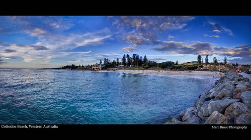 sunset panorama beach fishing cottesloe hdr 50d