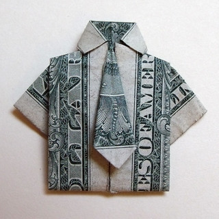 Dollar Bill Origami Shirt With Tie Instructions | Polo T-Shirts ... | 320x320