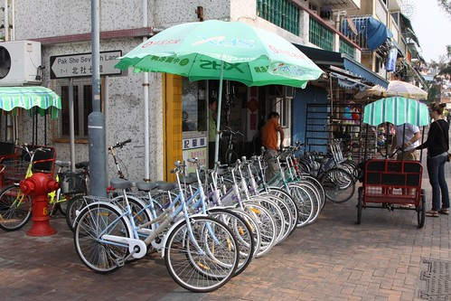 Bikes for hire or sale on Cheung Chau