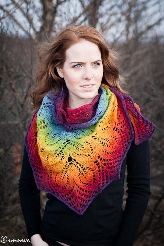 My rainbow shawl