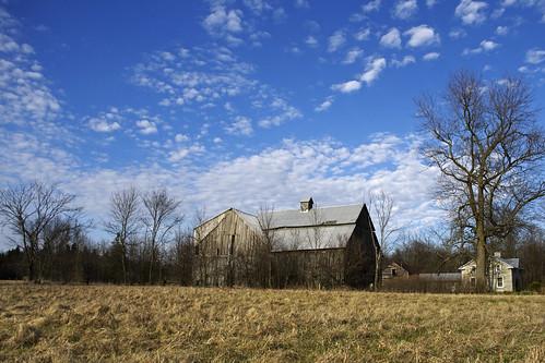 ontario canada clouds farmhouse barn farm odessa