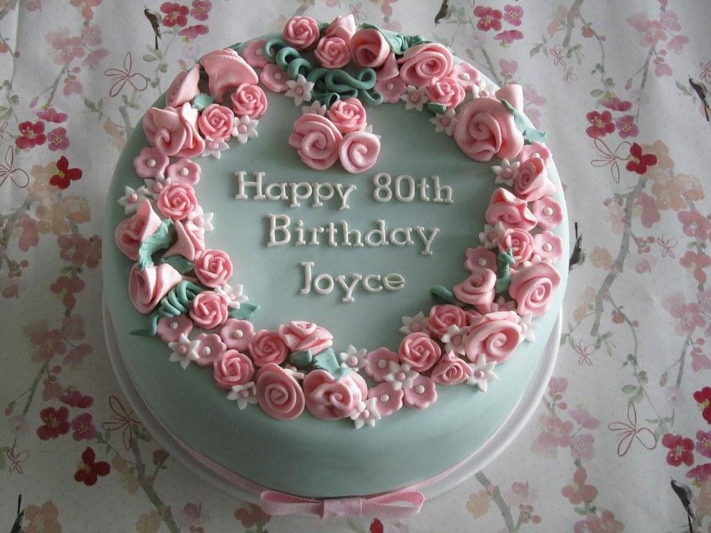 Fabulous Pink Flower Garden Cake Very Rich Brandy Fruit Cake Covere Flickr Funny Birthday Cards Online Hetedamsfinfo