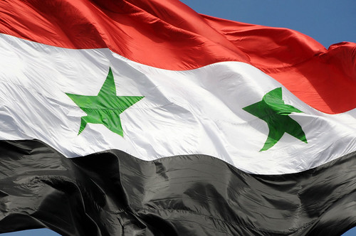 The flag of Syrian Arab Republic / Damascus, Syria | by ANJCI ALL OVER