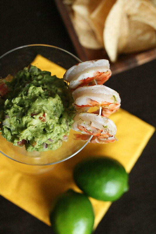 Guacamole with Grilled Margarita Shrimp