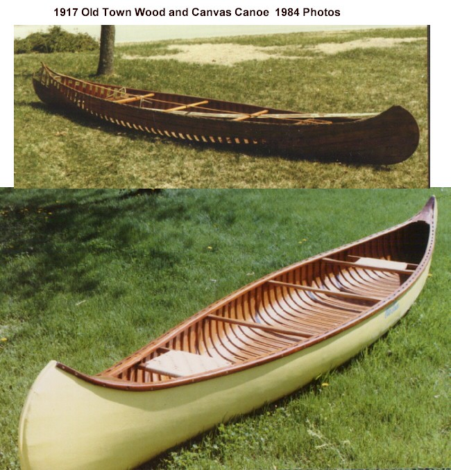 1917 Wood and Canvas Old Town Canoe - as purchased in 1984… | Flickr