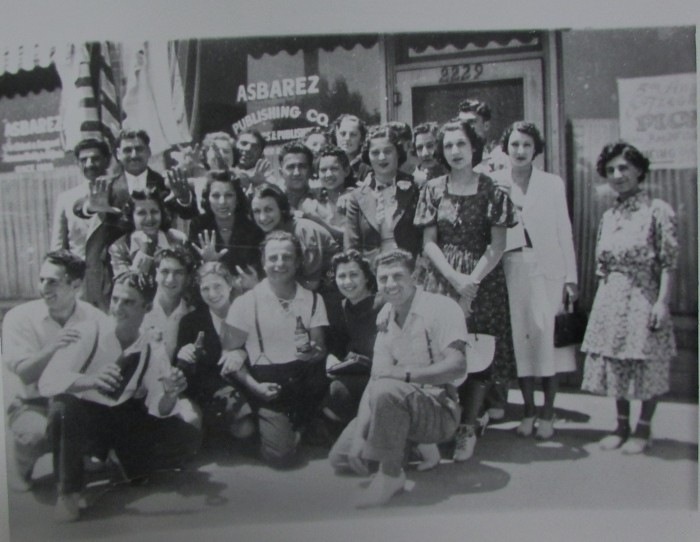 Group portrait infront of Asbarez offices, c. 1930s