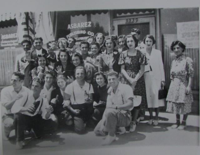 Group portrait infront of Asbarez offices, c. 1930s