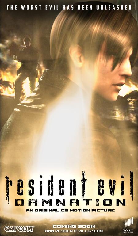 resident evil damnation poster
