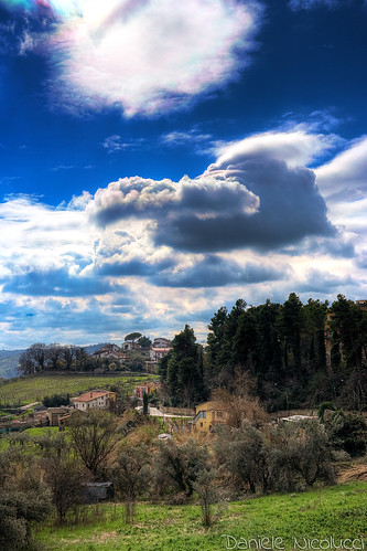 life above blue houses light sky cloud sun snow black tree green water rain skyline clouds contrast landscape spring infinity azure olive cycle cumulus saturation flare vegetation hdr cirrus chieti
