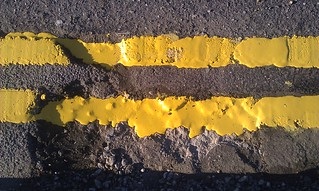 96/365 Double Yellow Puddled Lines | by Hexagoneye Photography