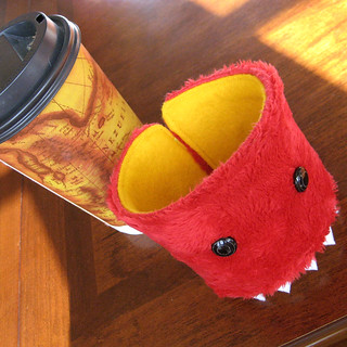 Arbuckle the monster coffee cozy | by abbydid