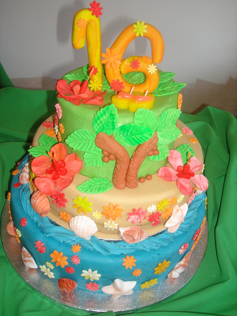Astounding Hawaii Birthday Cake Cakes And Sugarcraft By Gisele Flickr Funny Birthday Cards Online Overcheapnameinfo