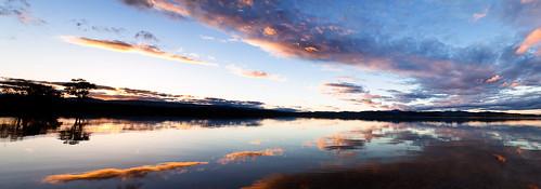 sunset lake reflection water canon landscape pano victoria alpine gippsland 24105mm glenmaggie 5dmkii