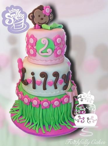 2nd Birthday - Hula Monkey - Icing Smiles