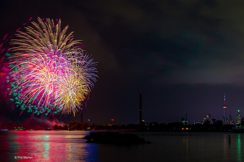 Canada Day fireworks - Ashbridges Bay, Toronto | by Phil Marion (173 million views - THANKS)