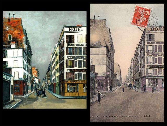 Maurice Utrillo. Rue Philippe-de-Girard, Paris. 1919