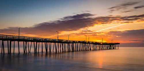 ocean longexposure sunrise virginia pier vabeach virginiabeach fishingpier hamptonroads ndfilter