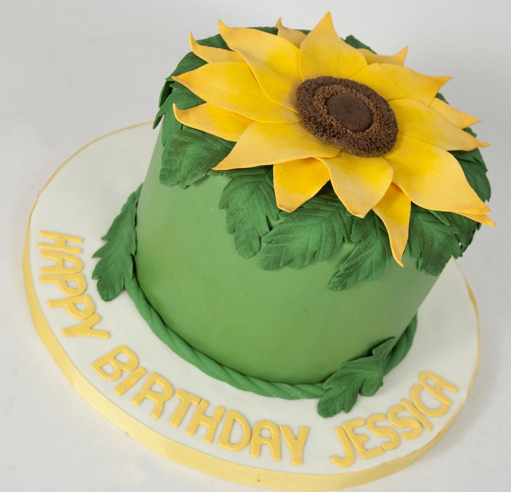 Admirable Bc4667 Sunflower Birthday Cake Toronto For The Love Of Cake Funny Birthday Cards Online Necthendildamsfinfo