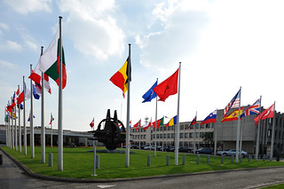 NATO Headquarters Belgium Brussels, Flags member countries | by NATO