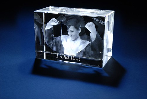 3D Laser Gifts - Train Graduation Photo Crystal | by 3dlaserart