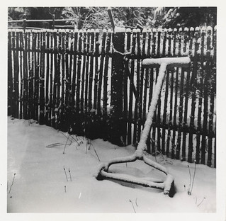 Still life of a lawn mower in the snow | by simpleinsomnia