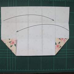 การพับกระดาษเป้นถุงของขวัญแบบไม่ใช้กาว (Origami Gift Bag) 003