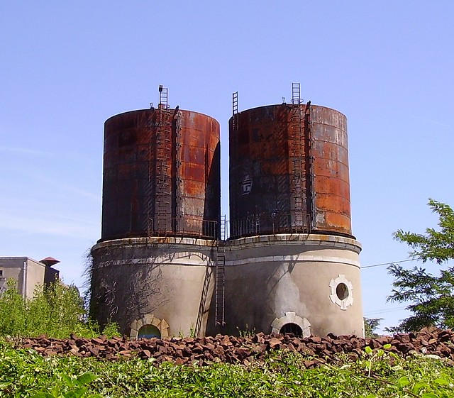 Railway water towers in France
