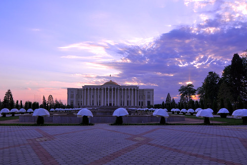 sunset sky asia president central palace tajikistan dushanbe