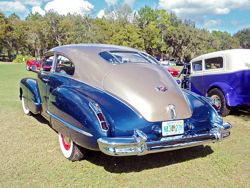 carshow car automobile cadillac 1942 coupe trunk lecanto florida