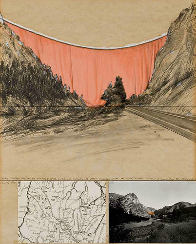 [ C ] Christo and Jeanne-Claude - Valley curtain (Project for Colorado) (1970) | by Cea.