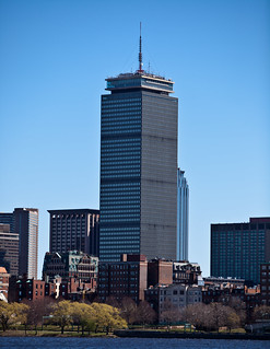 The Prudential Tower from Across The River | by Drone Photography