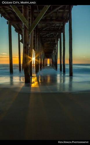 ocean longexposure sunrise pier maryland oceancity atlanticocean oceancityfishingpier