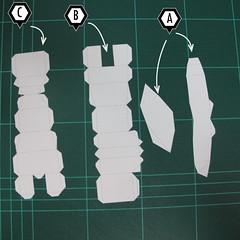 วิธีทำโมเดลกระดาษตุ้กตา คุกกี้สาวผู้ร่าเริง จากเกมส์คุกกี้รัน (LINE Cookie Run – Bright Cookie Papercraft Model) 011