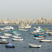 Small and bigger boats of Alexandria