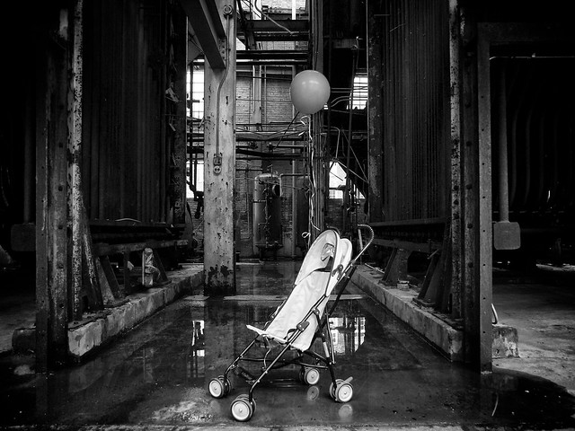 A Stroller in a Factory (163/365)