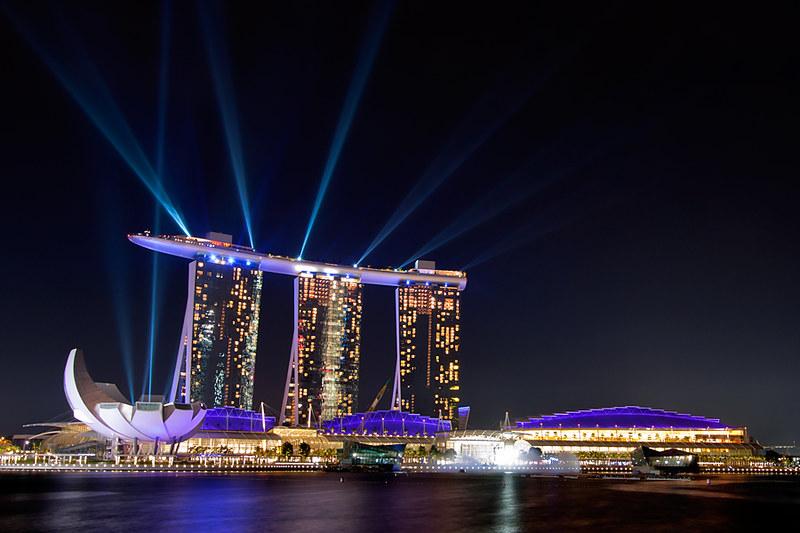 Marina Bay Sands, Laser Show, Singapore