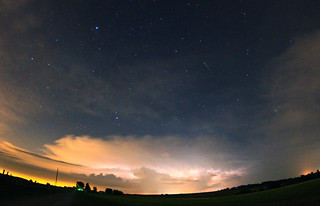 night thunderstorm with meteor | by davedehetre