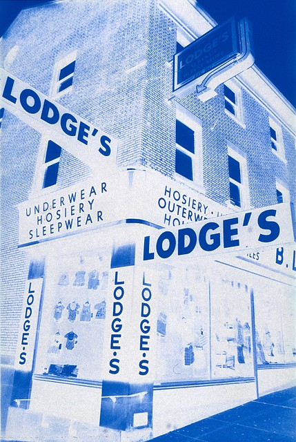 Lodge's Variety Store, Albany NY - taken with Polaroid PolaBlue film
