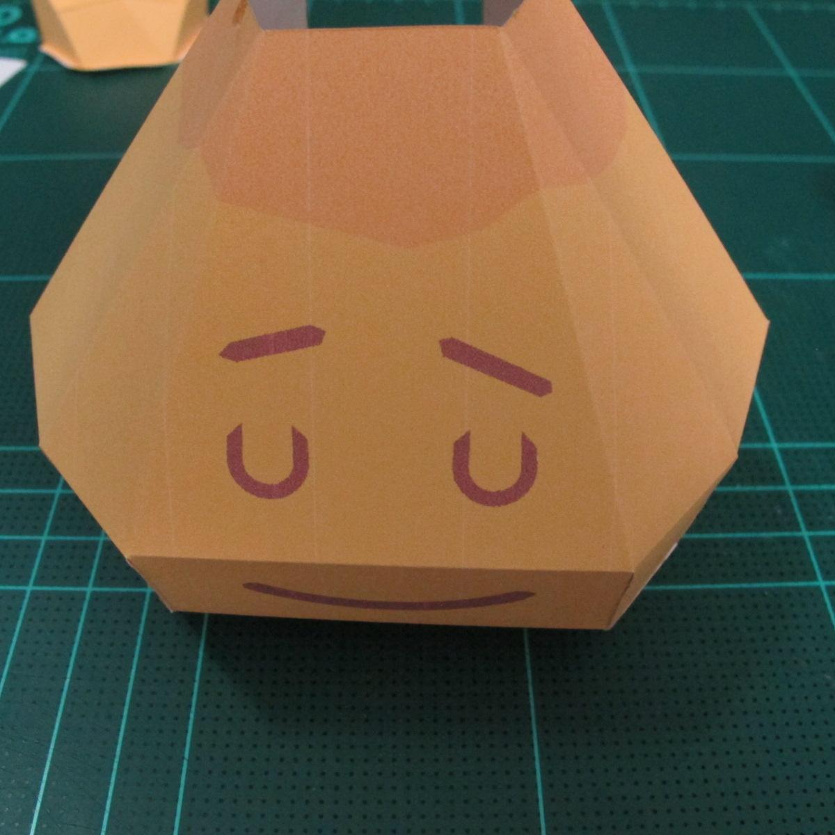 วิธีทำโมเดลกระดาษตุ้กตาสัตว์เลี้ยง หยดทองจากเกมส์ คุกกี้รัน (LINE Cookie Run Gold Drop Papercraft Model - クッキーラン  「黄金ドロップ」 ペーパークラフト) 013
