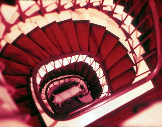 France   -   Paris  -    Hotel Maurice   Staircase -   May 1970