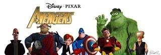 Pixar Avengers | by Brett Jordan