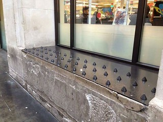 Everyone's up in arms about 'homeless spikes.' And rightly so. 2 things though: 1. Plenty of people are upset and sharing links in outrage who probably in general don't give a second thought to the homeless. 2. When I see these I think 'hey, get 2 or 3 la | by chaircrusher