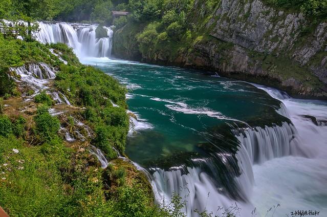Waterfall Štrbački Buk on Una river